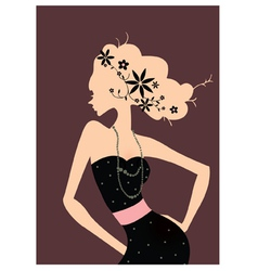 Retro Fashion Poster vector image vector image