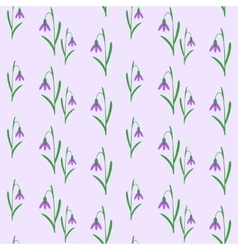 Seamless background with snowdrops vector image