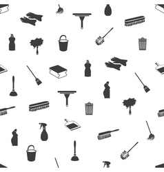 Seamless cleaning icons vector