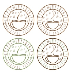 set of coffee infinity vintage labels vector image