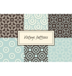 set of retro abstract vintage seamless vector image