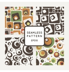 Set of seamless pattern of colored circles vector image