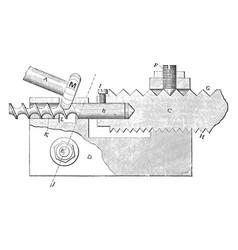 Spiral milling lathe vintage vector