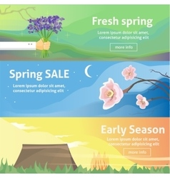 Spring baners Fresh spring background with grass vector image