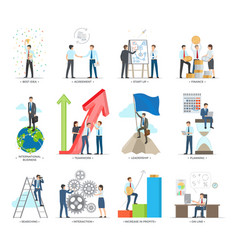 successful business making concept poster vector image vector image