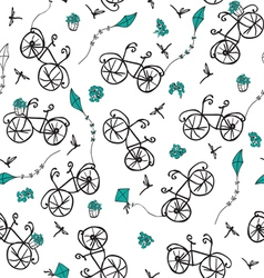 Summer bicycle ride vector