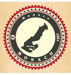 Vintage label-sticker cards of monaco vector