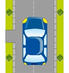 Car on road vector