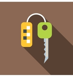 Keys to taxi icon flat style vector