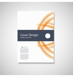 Abstract color line element Wave brochure design vector image