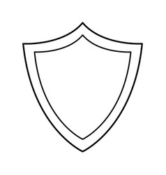 Shield protection system technology line vector