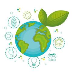 green globe design vector image