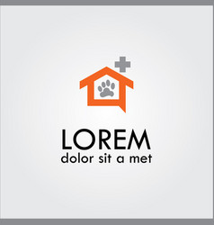 home medical pets logo vector image