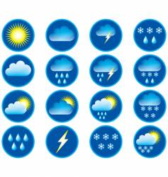 Weather conditions vector