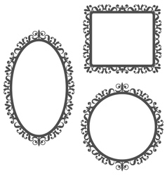Vintage frames isolated on white vector