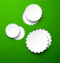 Paper white round flower bubbles vector