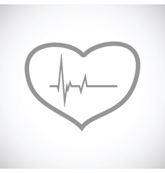 Heartbeat black icon vector