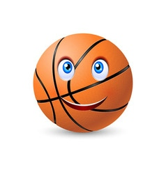 Happy basketball ball vector