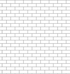 Seamless brick wall white vector image