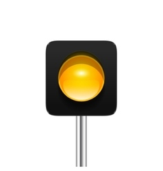 Yellow Traffic Light vector image