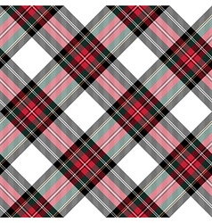 Dress stewart tartan seamless pattern diagonal vector