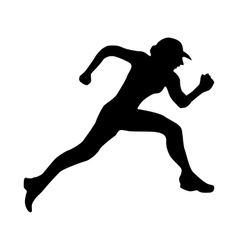 Running silhouette black vector