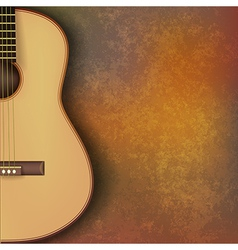 Abstract grunge music background with guitar on vector