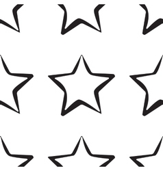Abstract star pattern black and white texture vector