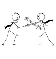 conceptual cartoon of two businessmen arguing and vector image
