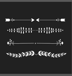 dividers calligraphic line element vector image