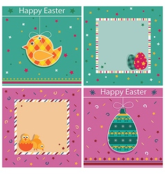 easter cards vector image vector image