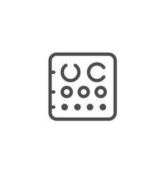 eye chart line icon vector image
