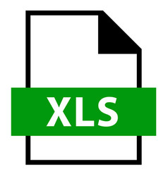 file name extension xls type vector image vector image
