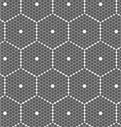 Gray small hexagons forming big hexagons vector image vector image