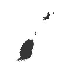 Grenada map silhouette vector