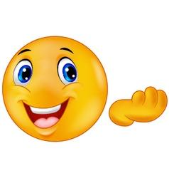 Happy emoticon smiley vector image