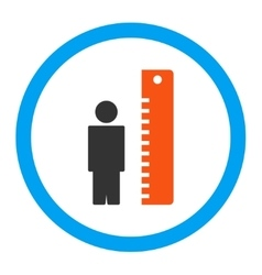 Height meter rounded icon vector