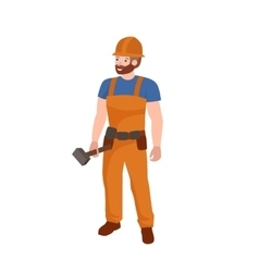 Man worker plumber profession people uniform vector