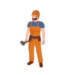 Man worker plumber profession people uniform vector image vector image