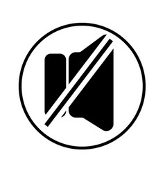 mute icon vector image
