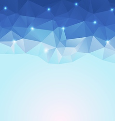 nice blue ice polygonal background vector image