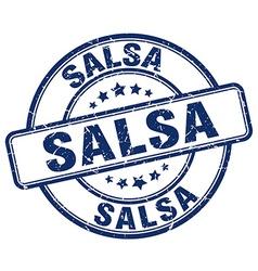 Salsa blue grunge round vintage rubber stamp vector