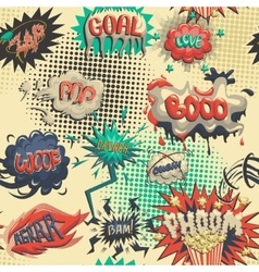 Seamless pattern of comic icon vector