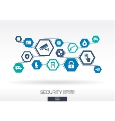 Security network Hexagon abstract background vector image vector image