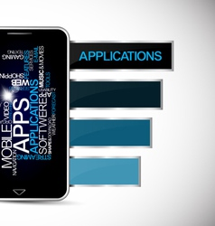 Smartphones application vector image