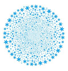 Snowflake fireworks sphere vector