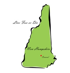 State of new hampshire vector