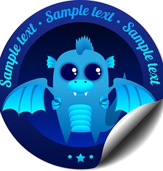 Sticker with dragon vector image