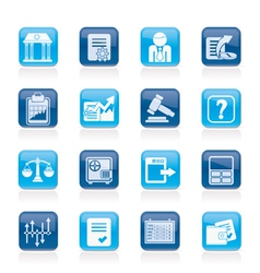Stock exchange and finance icons vector