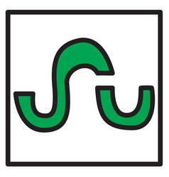 stumbleupon color glossy icon realistic icon logo vector image vector image